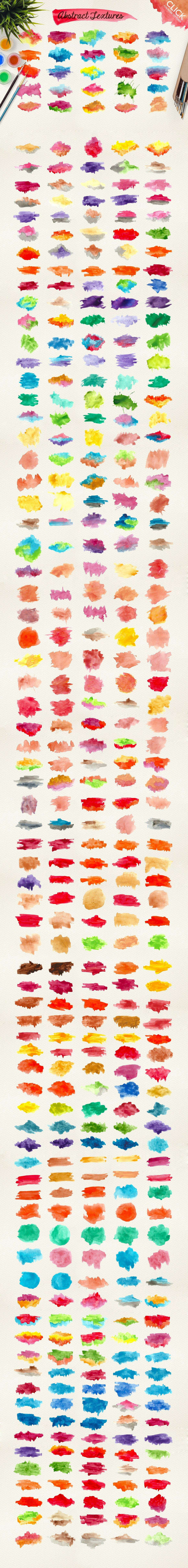 500款高清多彩水墨水彩背景纹理图片素材 500 Watercolor Textures Packs插图(3)