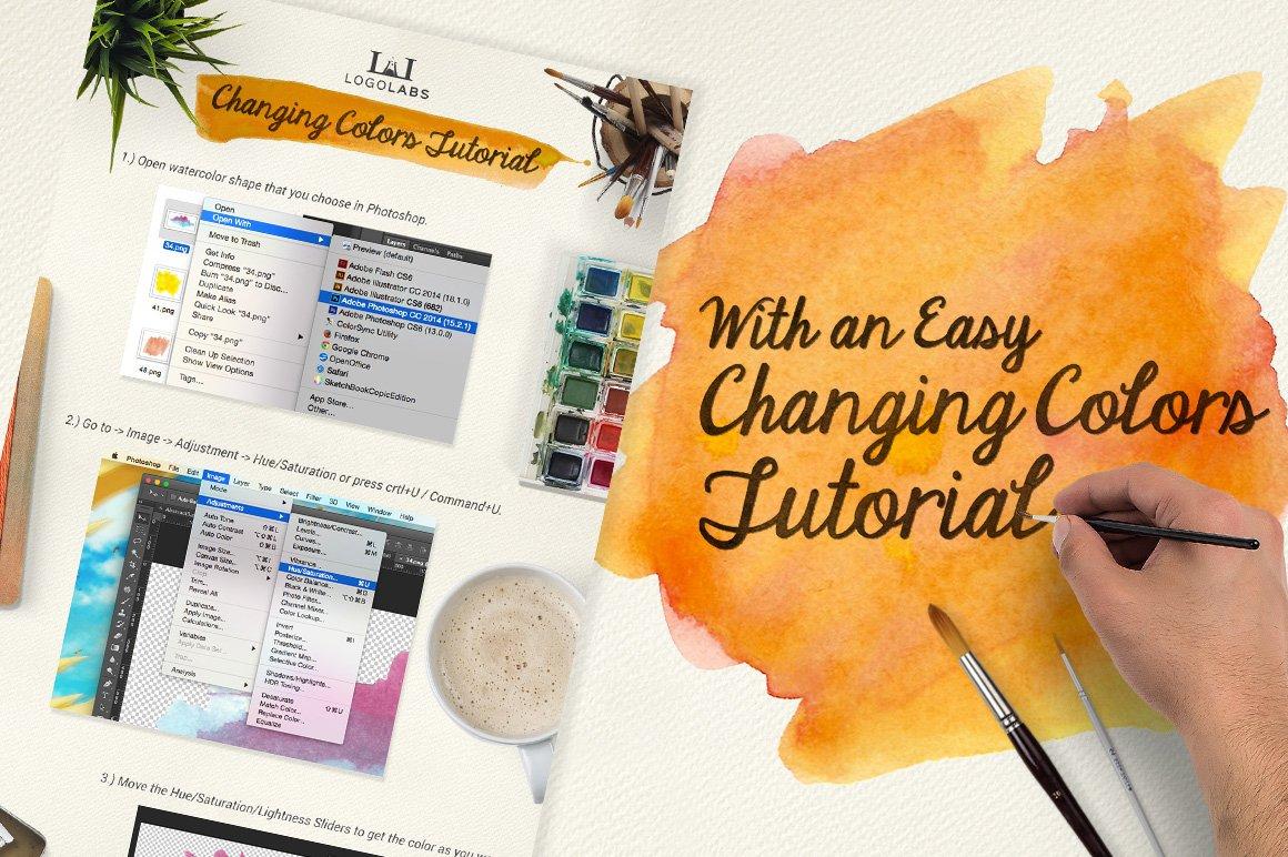 500款高清多彩水墨水彩背景纹理图片素材 500 Watercolor Textures Packs插图(4)