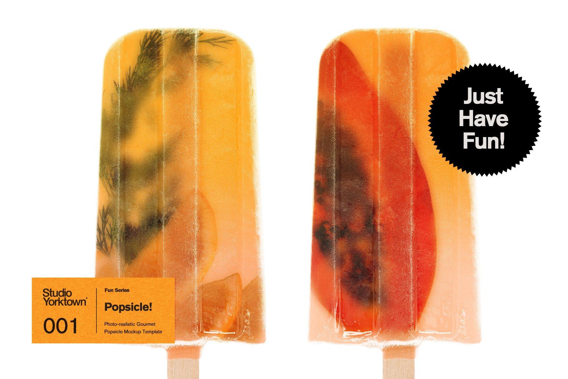 水果夹心冰棍雪糕品牌设计展示PSD样机模板 Popsicle! Ice Pop Mockup Template插图(5)