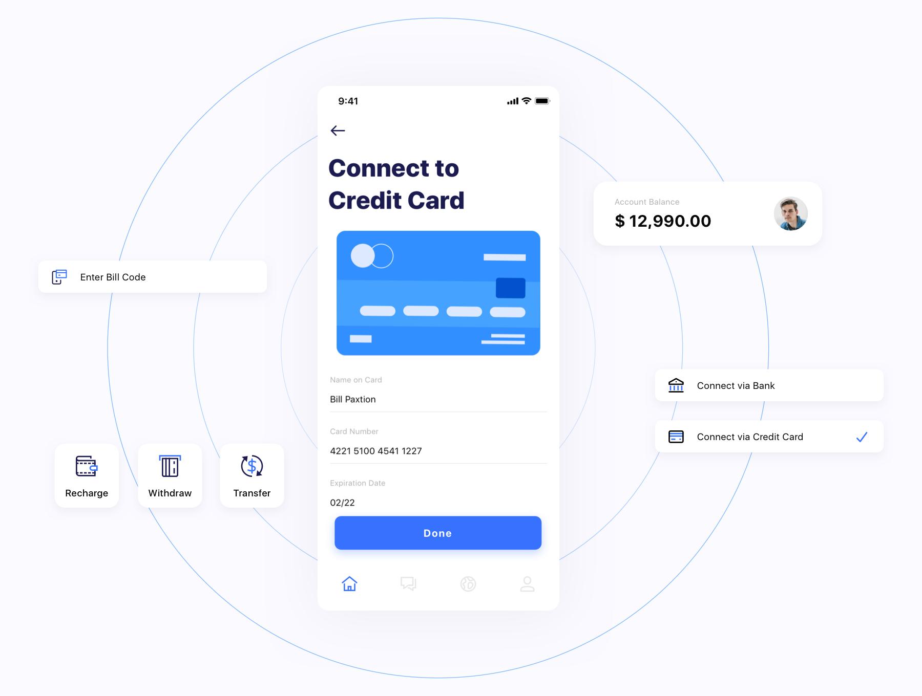 银行金融电子钱包应用APP UI套件 Kard | e-Wallet App Ui Kit插图(3)