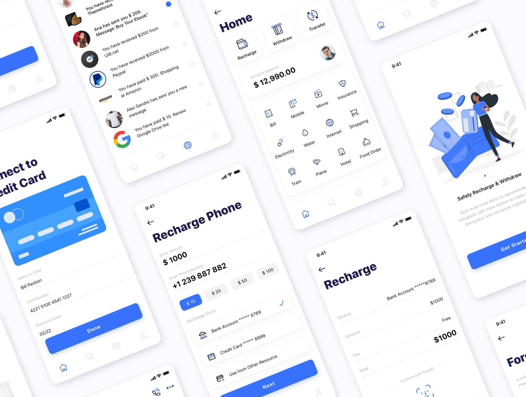 银行金融电子钱包应用APP UI套件 Kard | e-Wallet App Ui Kit插图(4)