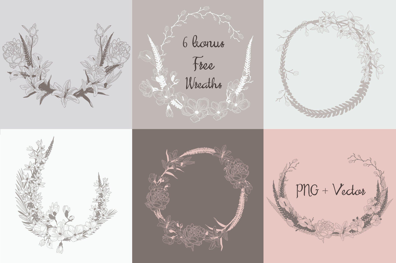 35款优雅花卉植物无缝隙矢量图案素材 35+ Patterns & 8 Instagram Templates插图(5)