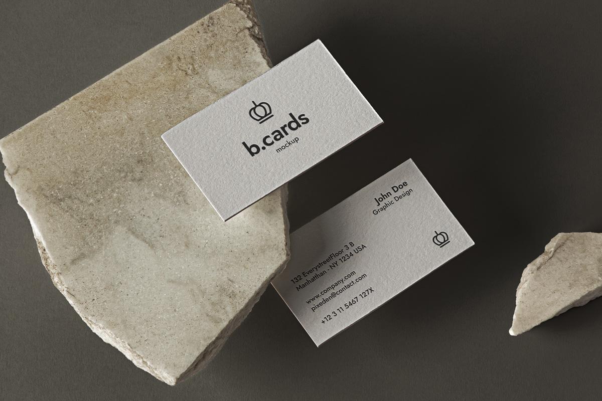 精美办公商务名片设计展示样机 Psd Business Card Mockup Showcase插图