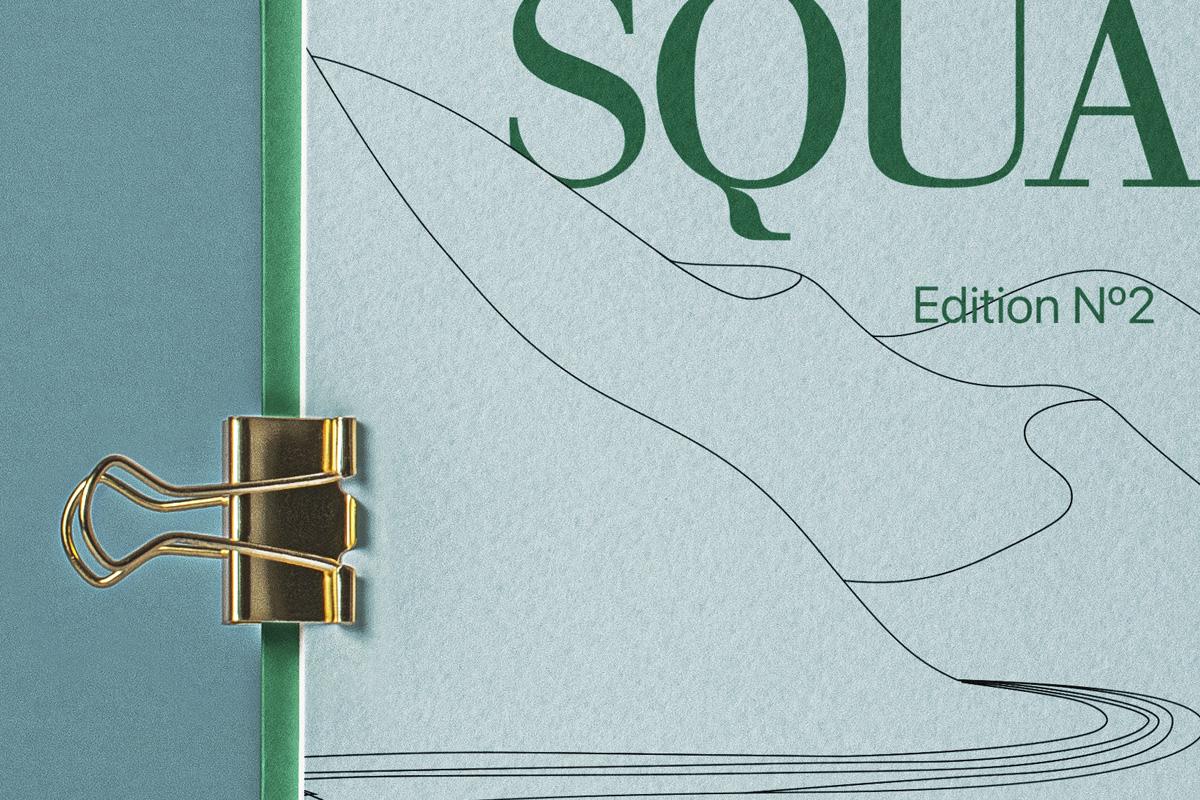 打开精装书画册设计样机模板 Open Square Psd Catalog Mockup插图(1)