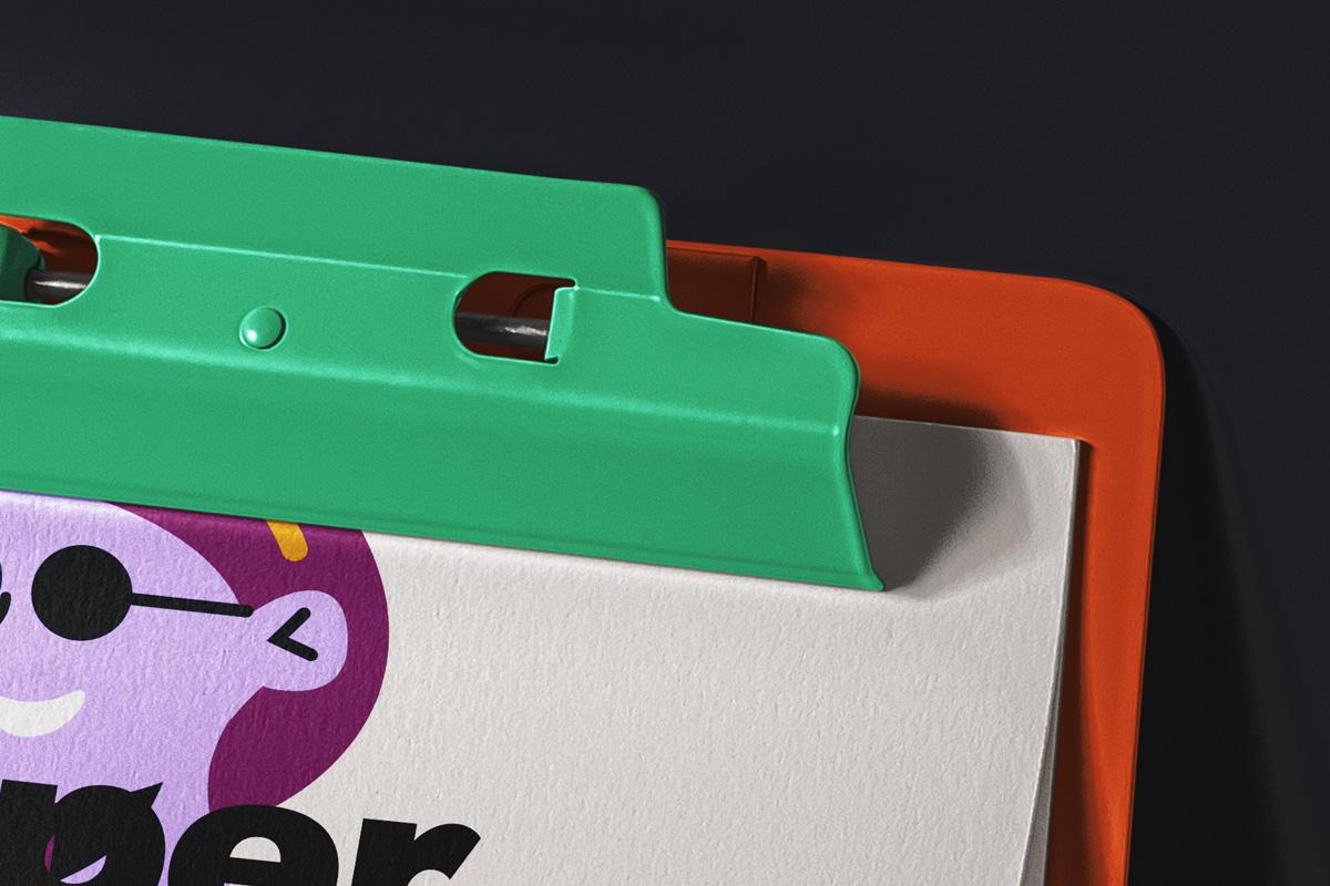 办公用品剪贴板样机模板 Paper Psd Clipboard Mockup插图(1)