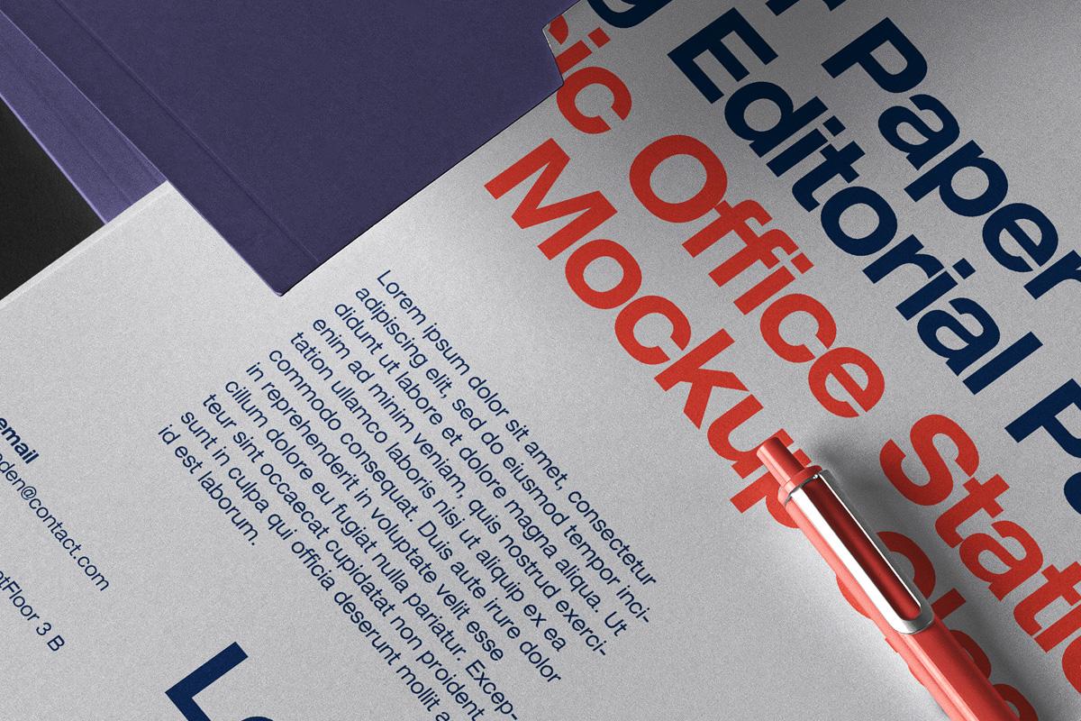 品牌VI设计办公用品展示样机模板 Business Psd Stationery Mockup Set 2插图(2)