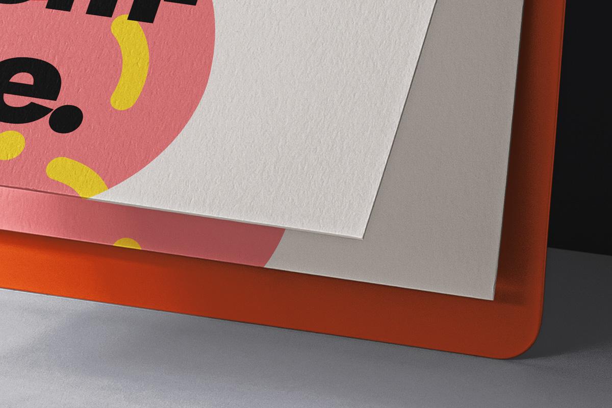办公用品剪贴板样机模板 Paper Psd Clipboard Mockup插图(2)