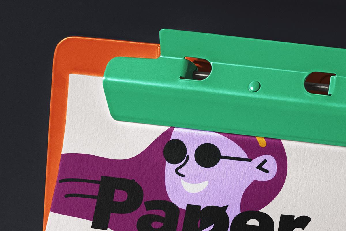 办公用品剪贴板样机模板 Paper Psd Clipboard Mockup插图(4)