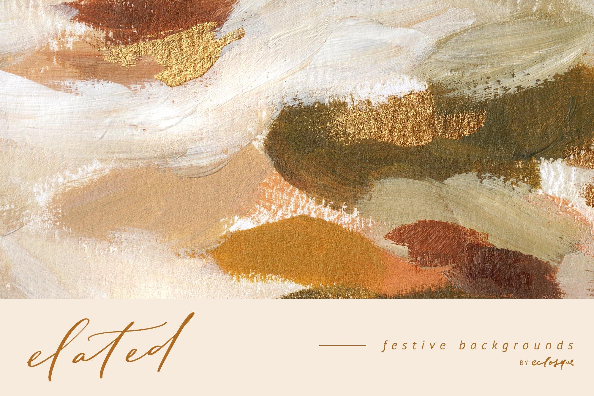 [淘宝购买] 90款新潮抽象轻奢金漆笔触装饰图案纹理背景图片素材 Elated Abstract Painted Backgrounds插图