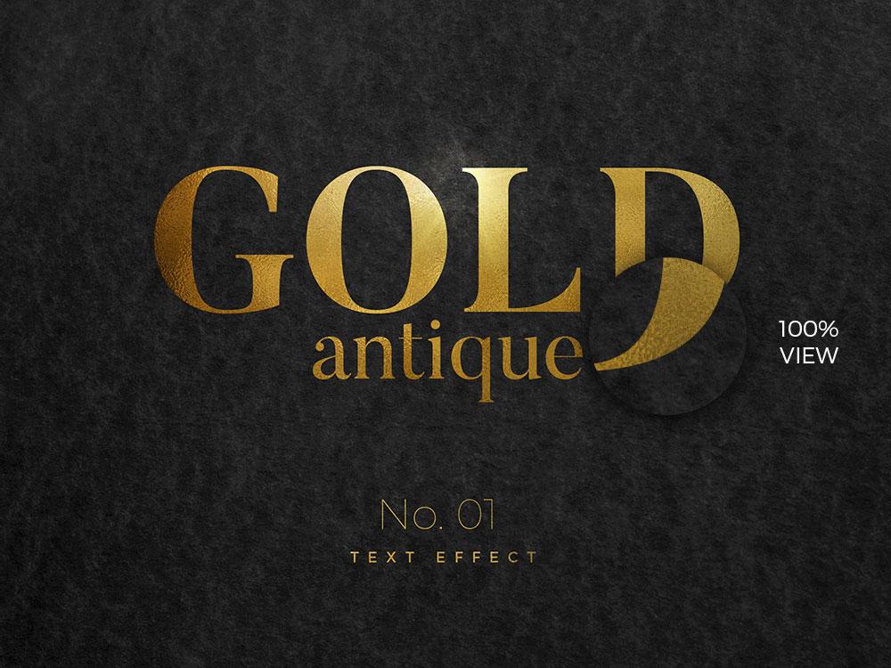10款烫金金箔纸效果标题字体设计PS文字样式模板 10 Golden Text Effects插图