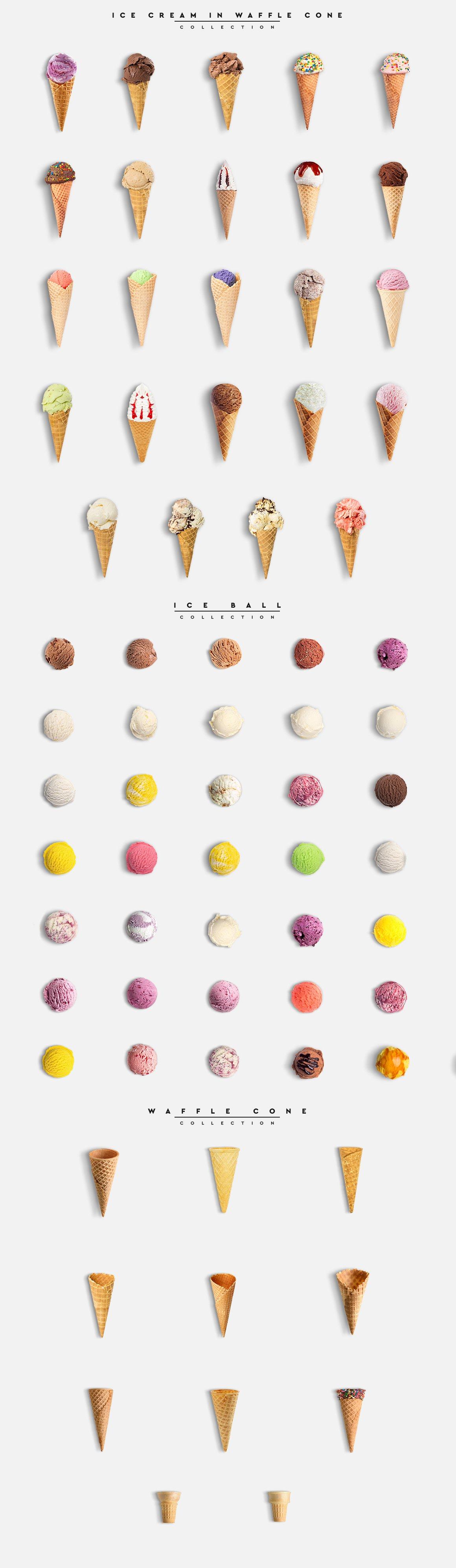 冰淇淋场景发生器平面广告设计PS素材 Ice Cream Scene Creator #01插图(1)