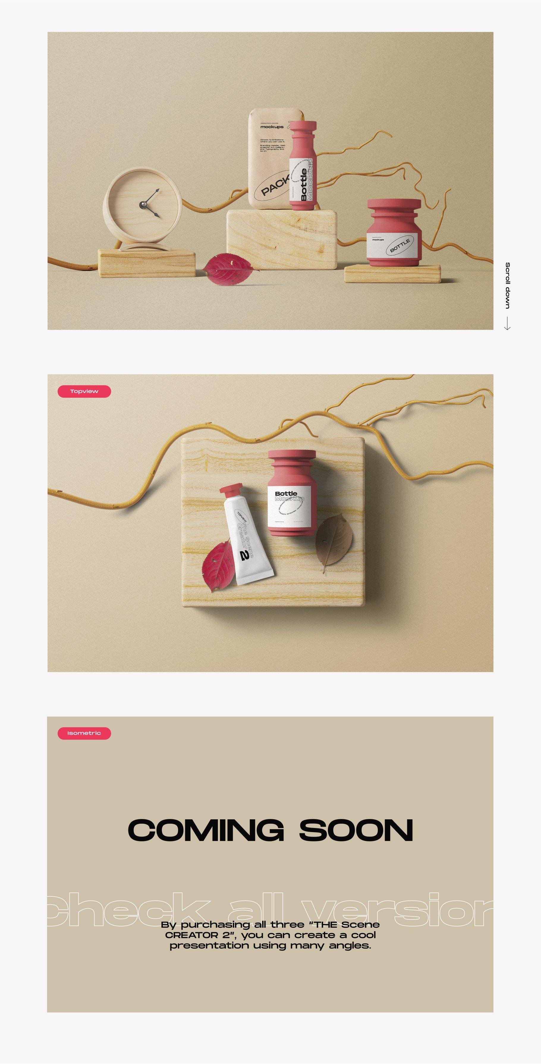 [淘宝购买] 超大品牌VI包装设计PS智能贴图样机模板素材 The Scene Creator 2 / Frontview插图(1)
