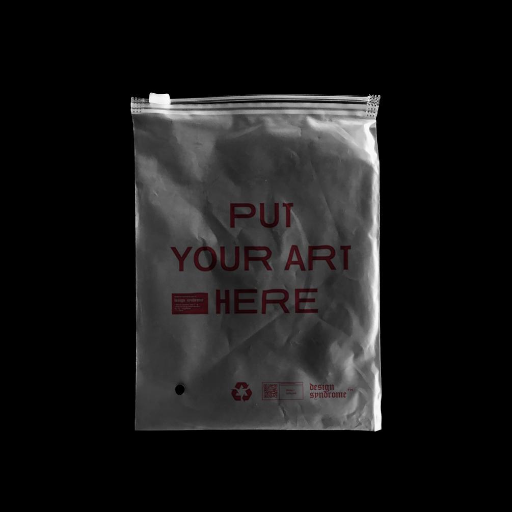潮流半透明拉链塑料袋设计贴图PSD样机模板 Translucent Plastic Bag Mockup插图(1)