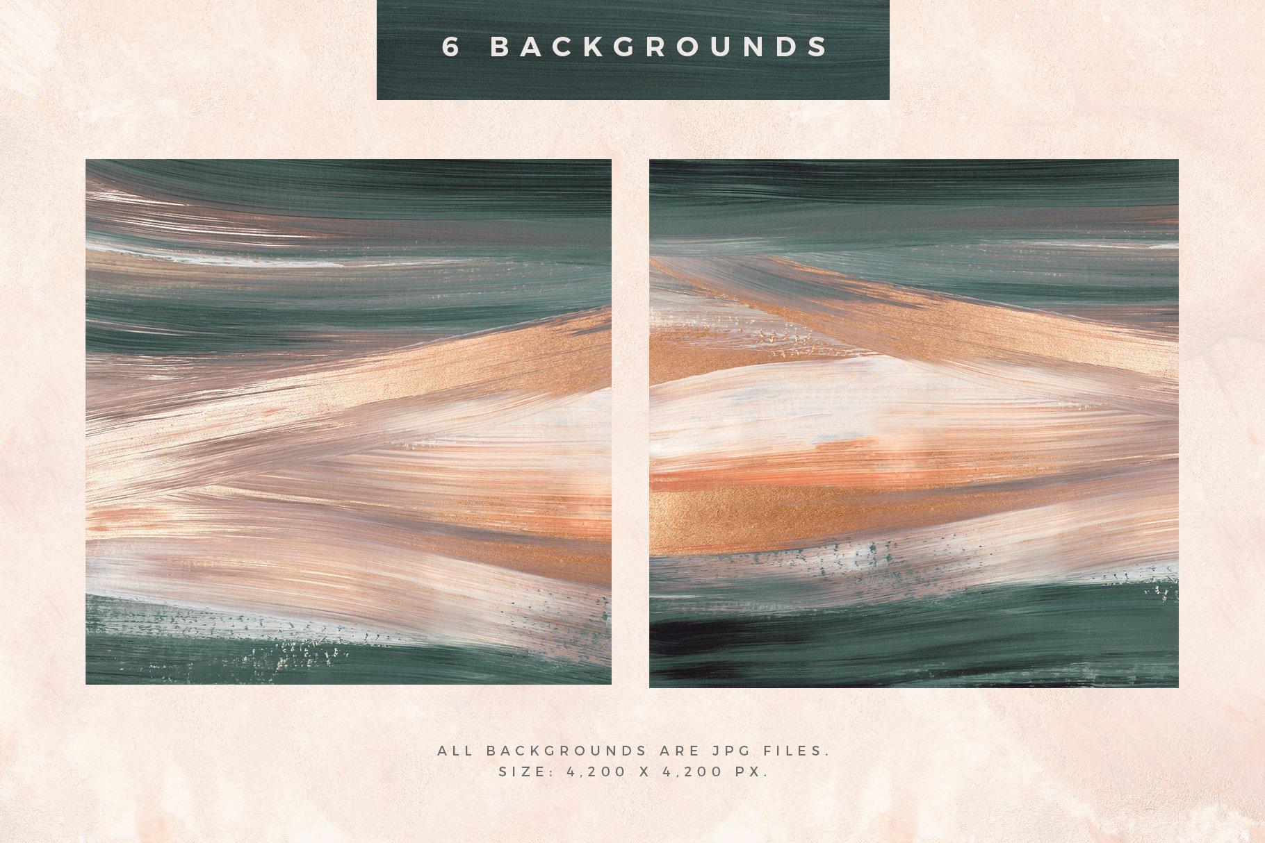 [淘宝购买] 时尚优雅抽象多彩丙烯酸颜料笔刷肌理背景PNG图片素材 Painterly Shapes & Backgrounds插图(2)