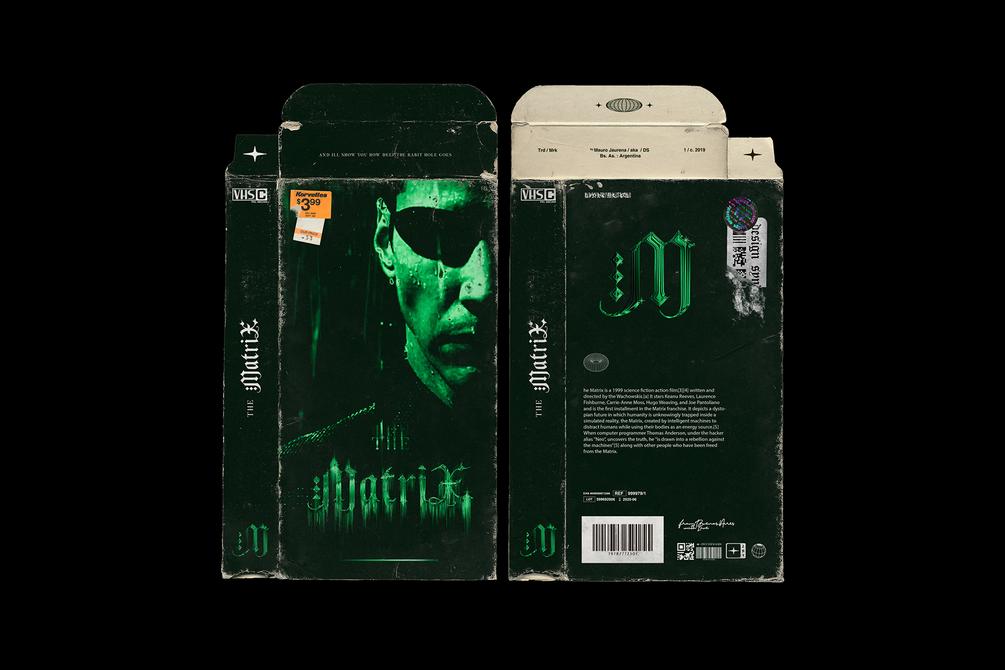 潮流磨损产品磁带包装纸盒设计展示PS样机模板 Distressed VHS Sleeve Mockup插图(2)