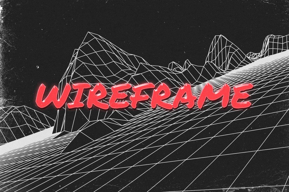 40款80年代复古未来美学矢量网格纹理山水插图设计素材 Retro Inspired Grid Landscapes插图(3)