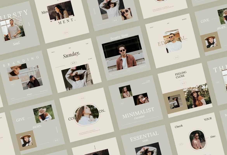 现代简约品牌推广新媒体电商海报设计模板 Minimalist Instagram for Creator插图(5)