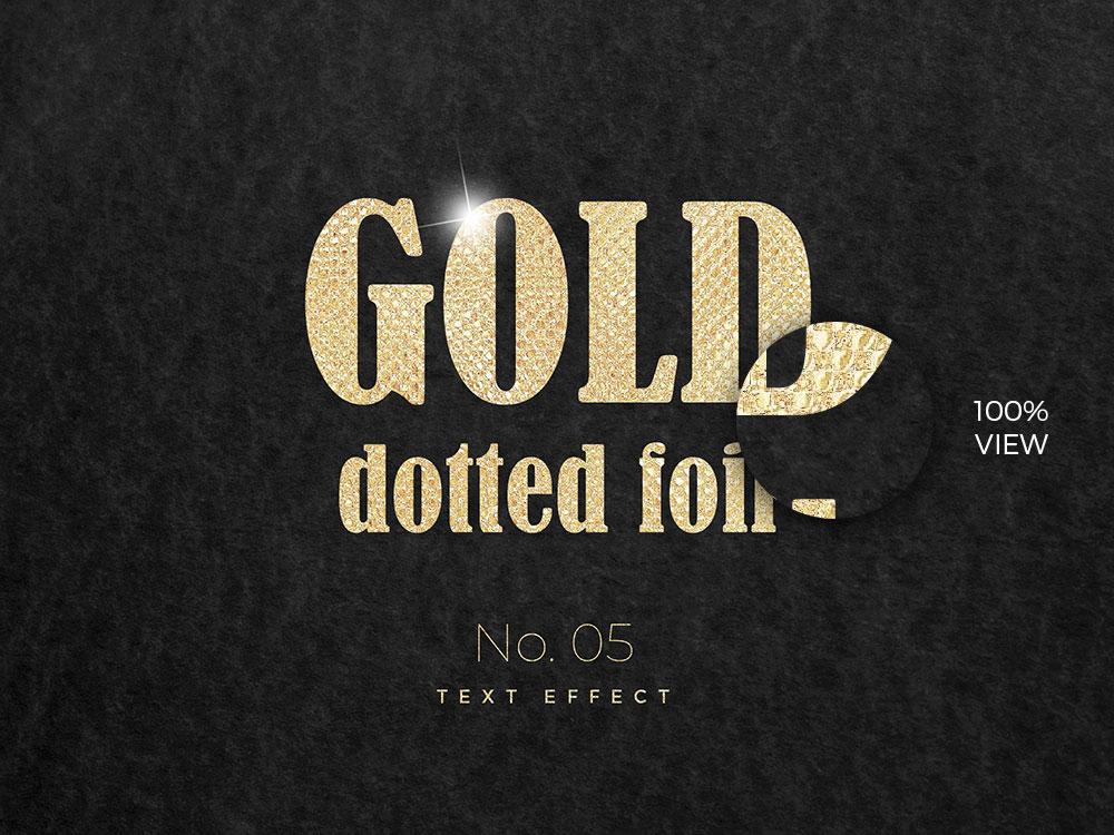 10款烫金金箔纸效果标题字体设计PS文字样式模板 10 Golden Text Effects插图(4)