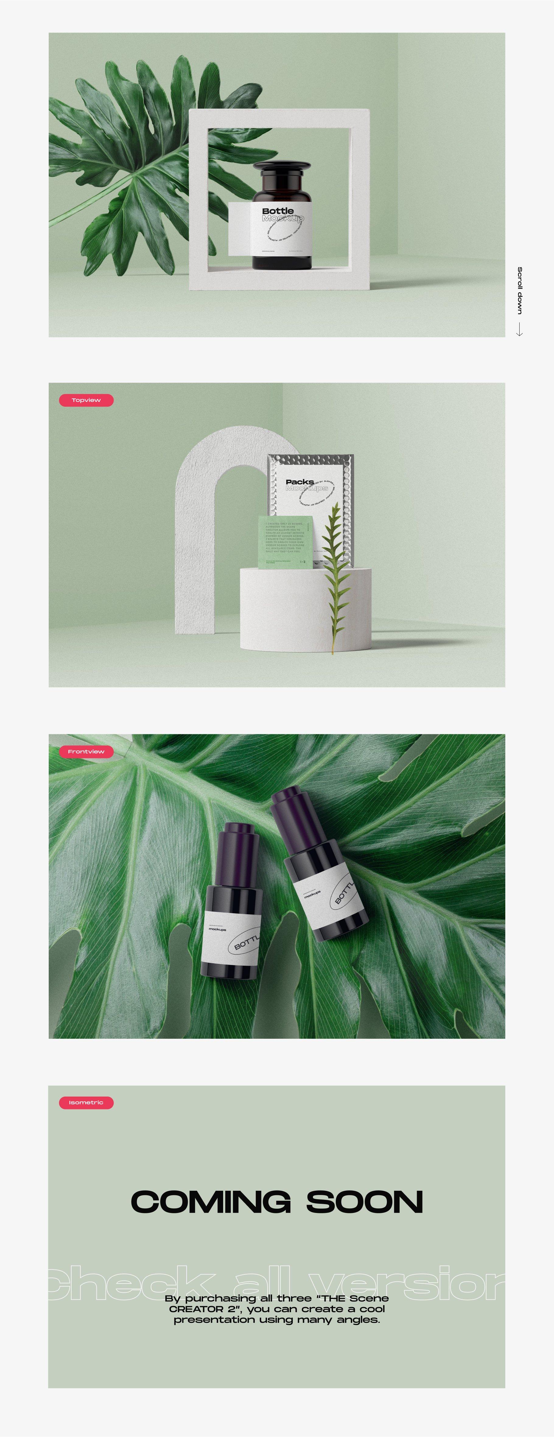 [淘宝购买] 超大品牌VI包装设计PS智能贴图样机模板素材 The Scene Creator 2 / Frontview插图(5)