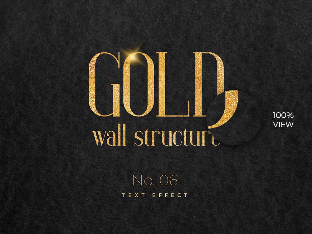 10款烫金金箔纸效果标题字体设计PS文字样式模板 10 Golden Text Effects插图(5)