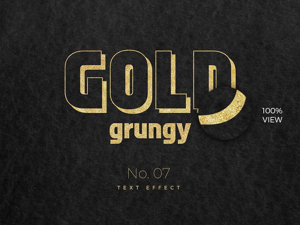 10款烫金金箔纸效果标题字体设计PS文字样式模板 10 Golden Text Effects插图(6)