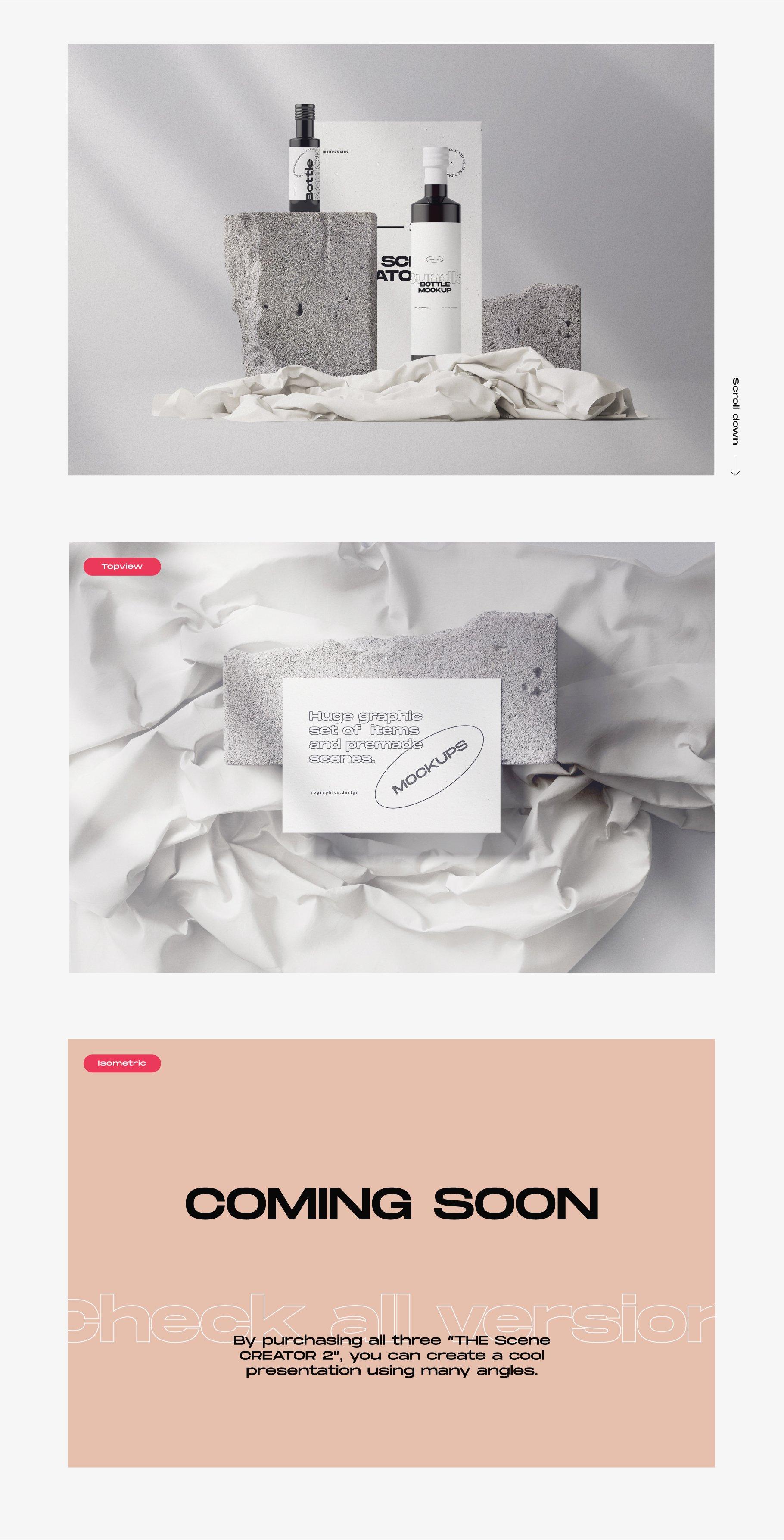 [淘宝购买] 超大品牌VI包装设计PS智能贴图样机模板素材 The Scene Creator 2 / Frontview插图(7)