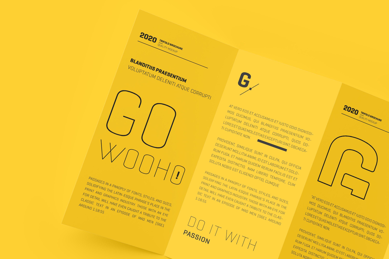 8款四折页小册子设计展示样机模板 DL 4 Fold Brochure Mockup插图(8)