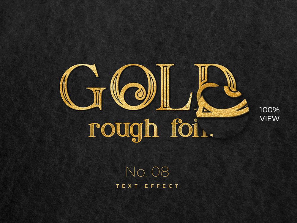 10款烫金金箔纸效果标题字体设计PS文字样式模板 10 Golden Text Effects插图(7)