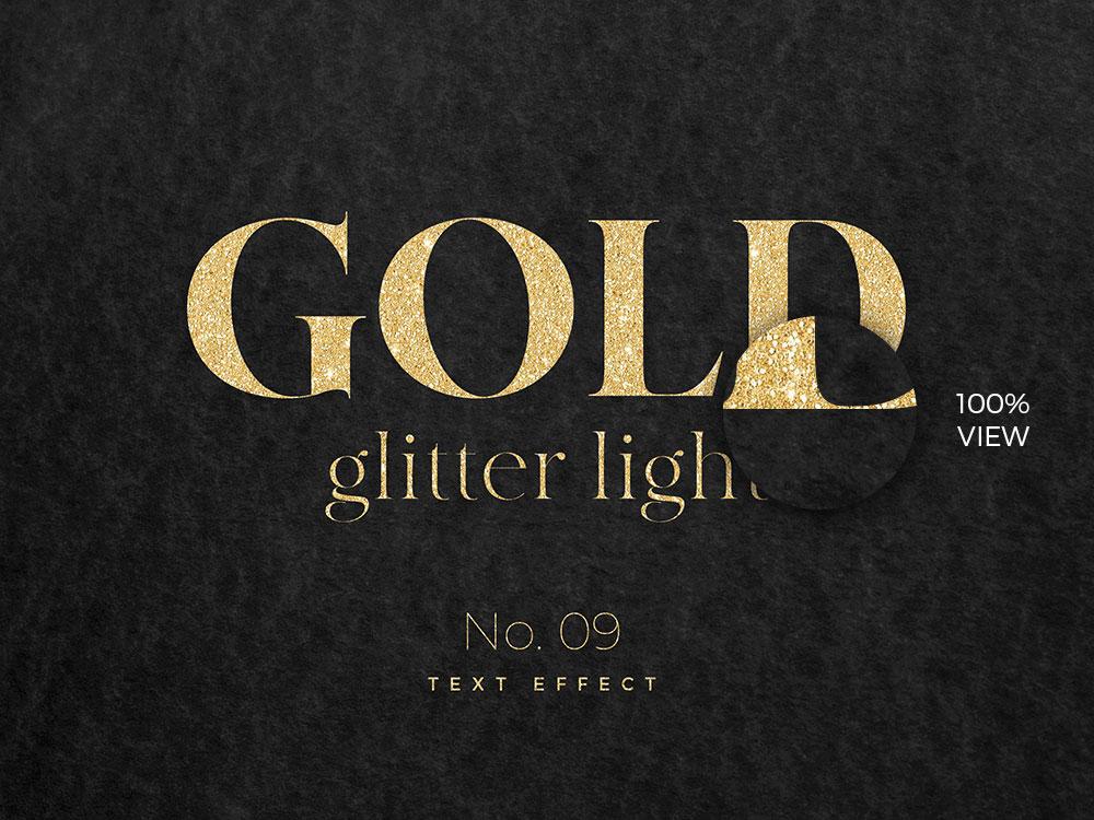 10款烫金金箔纸效果标题字体设计PS文字样式模板 10 Golden Text Effects插图(8)