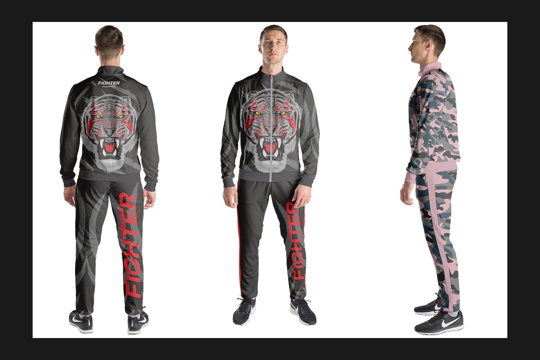 男士运动服饰设计展示样机模板 Sport Apparel Mockup Set插图(3)