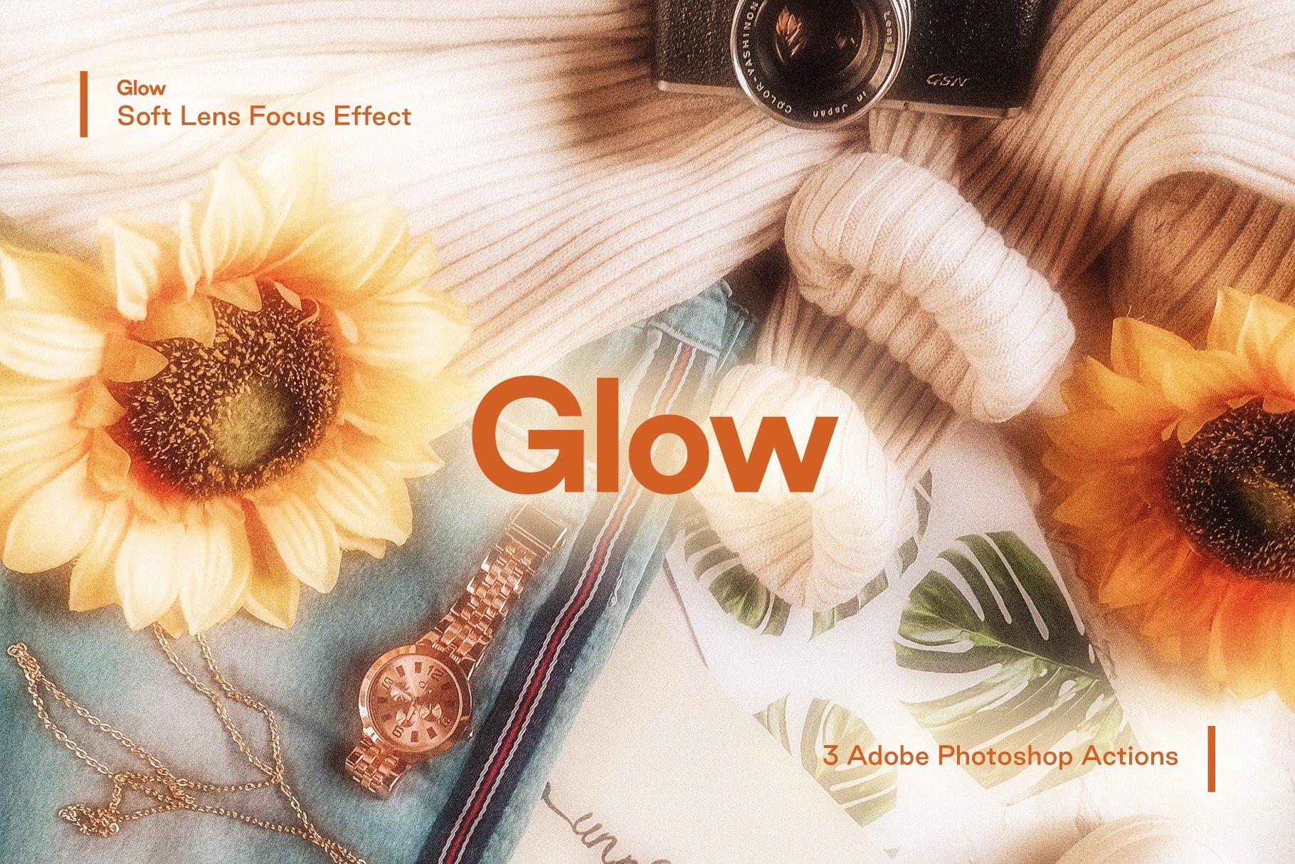 [淘宝购买] 梦幻发光柔和镜头聚焦效果摄影照片后期处理效果PS动作模板 Glow – Soft Lens Focus Action插图