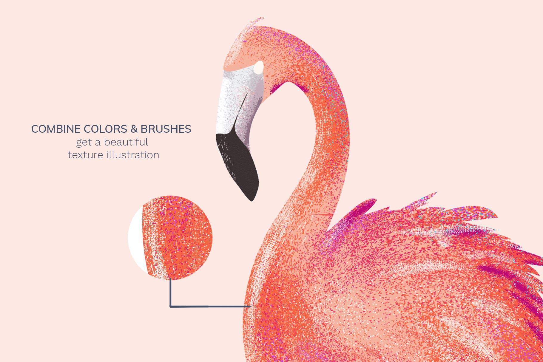 24款斑点颗粒AI矢量笔刷纹理素材 Vector Grain Brushes – Illustrator插图