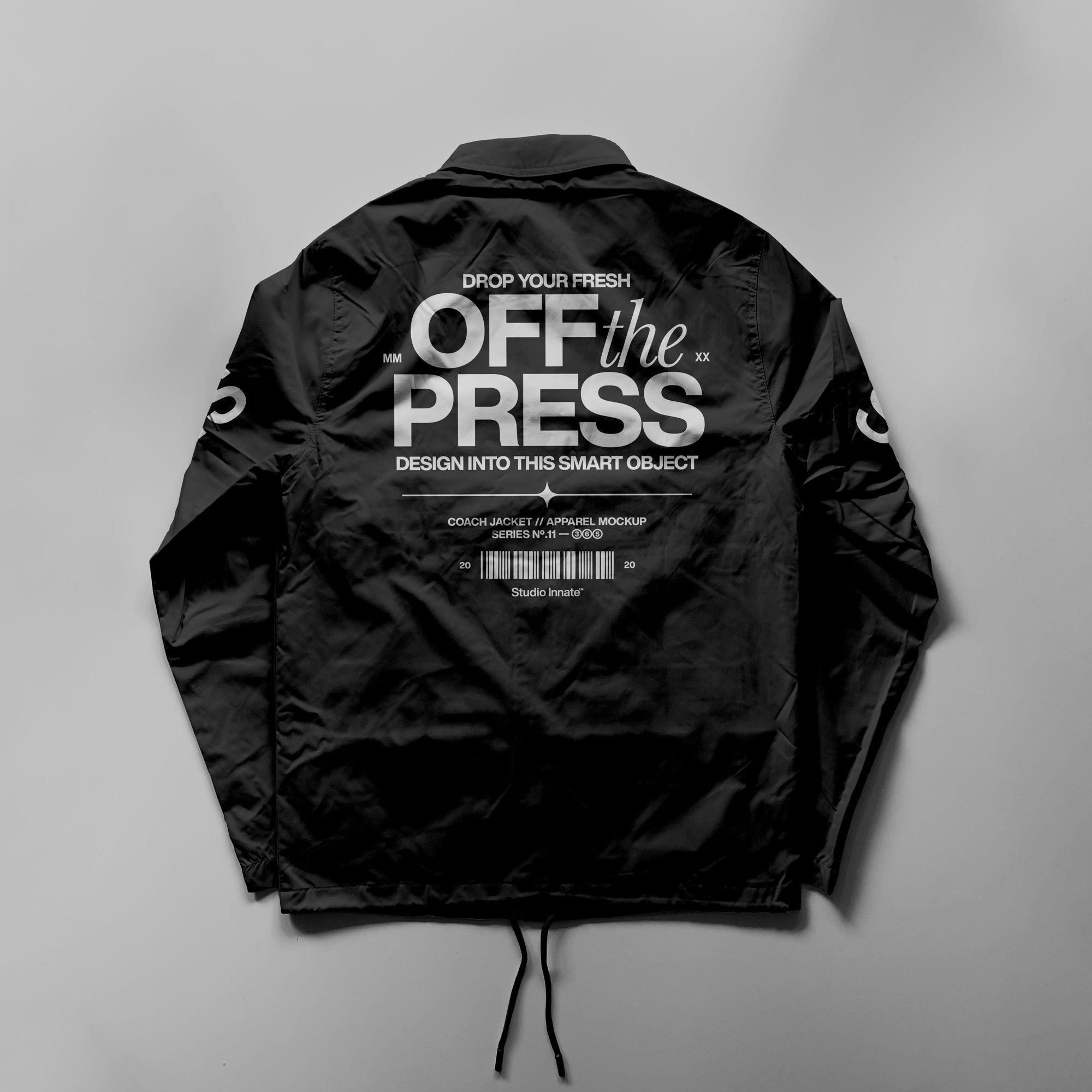 教练长袖夹克衫设计展示样机模板合集 Coach Jacket – Mockup Bundle插图