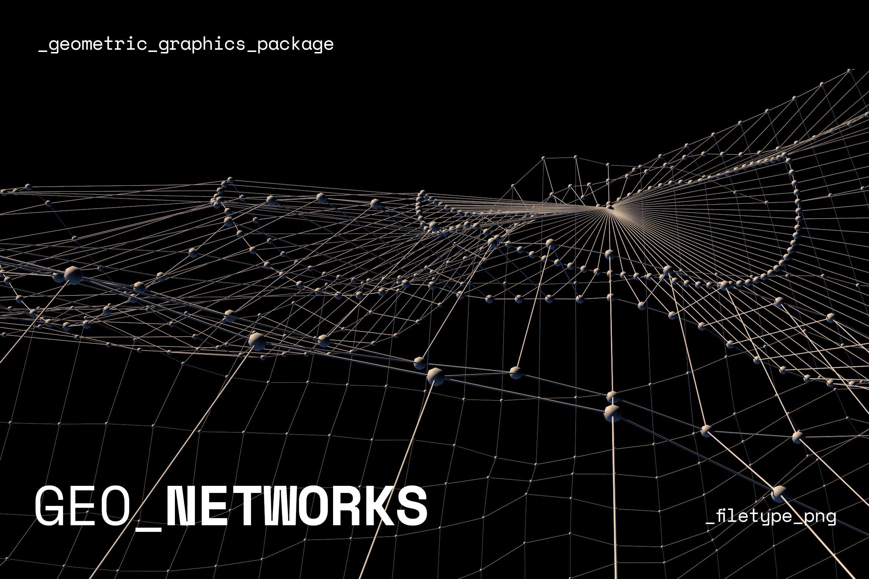 12款高清抽象几何数据网络图形论坛峰会背景图片素材 Geometric Network Collection插图