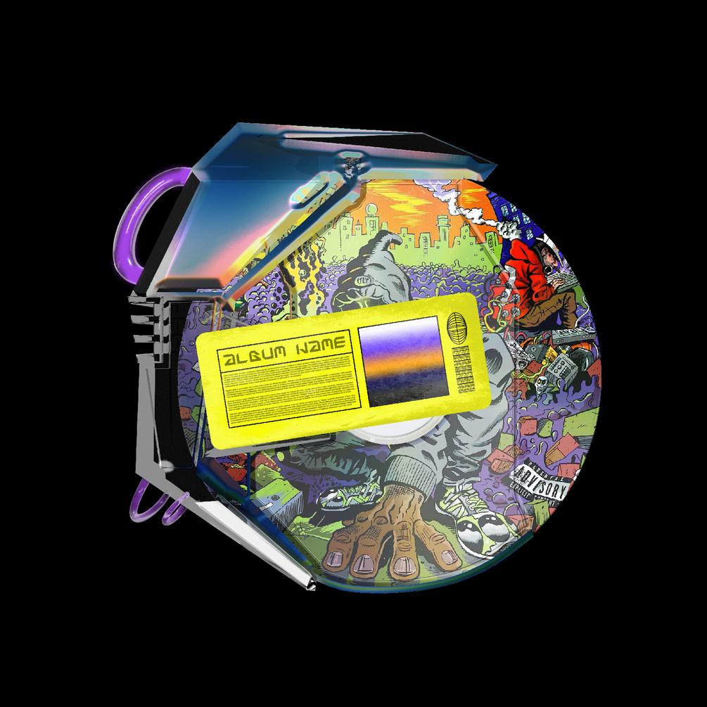 [已解锁精品素材] 潮流CD光盘贴纸设计展示样机模板 CD Case Mockup插图