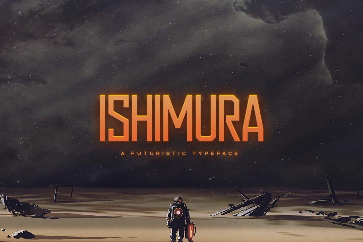 科幻电影标题设计无衬线英文字体下载 Ishimura Typeface Font插图