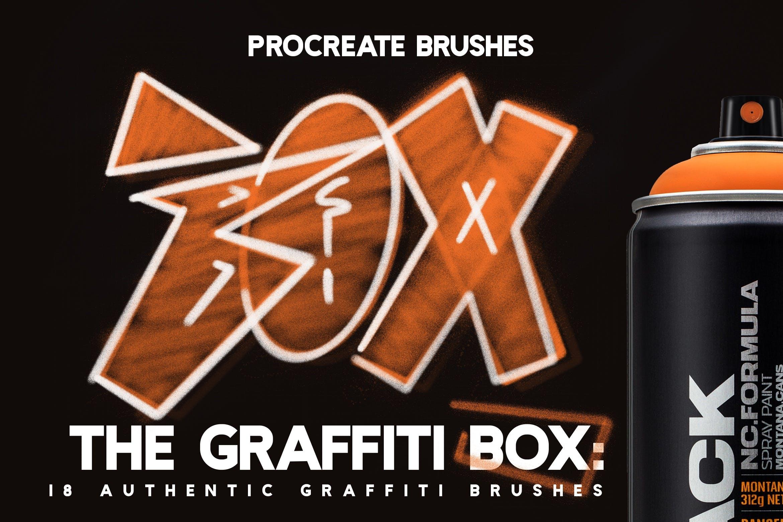 18款涂鸦绘画画笔Procreate笔刷 The Graffiti Box: Procreate Brushes插图