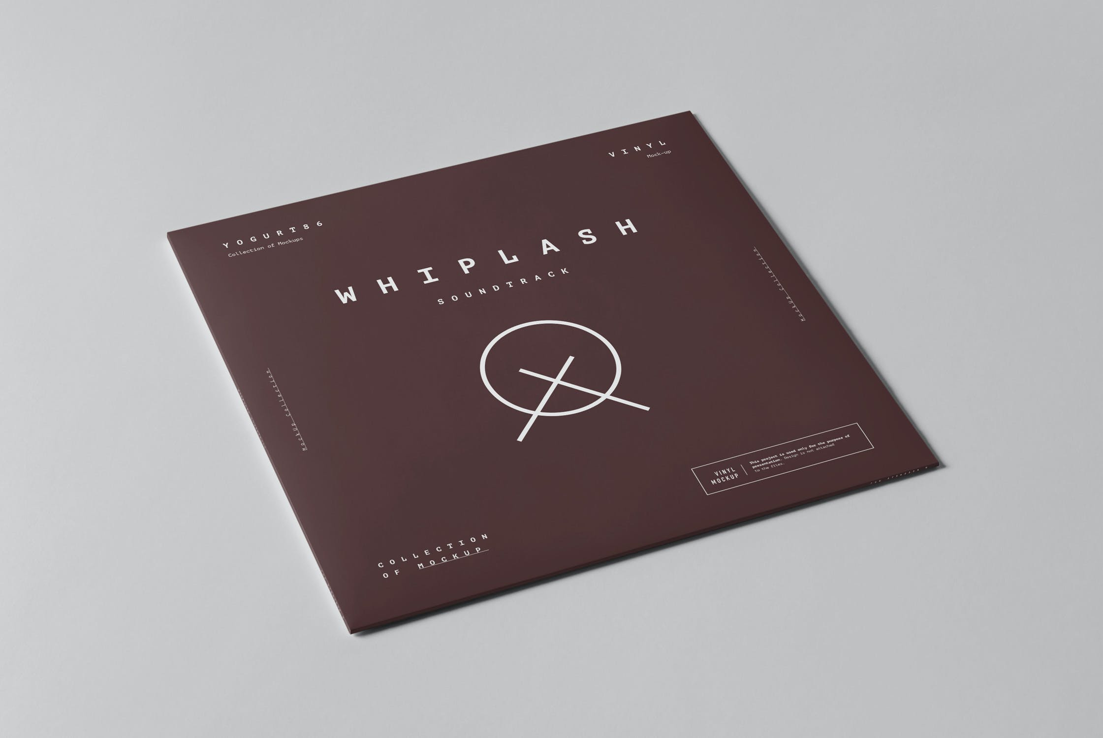 8款黑胶唱片包装纸袋设计展示样机模板 Vinyl Mockup插图