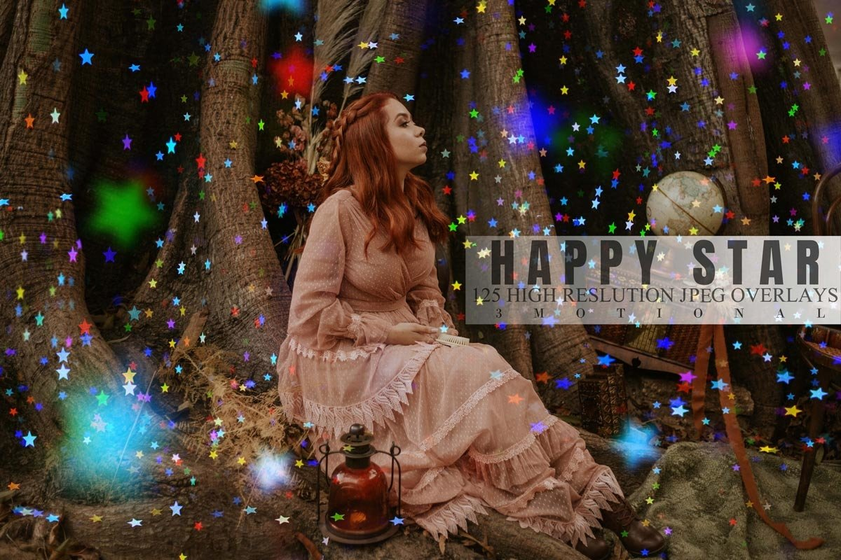 125款高清发光星星叠加层PNG图片素材 125 Happy Star Overlays插图