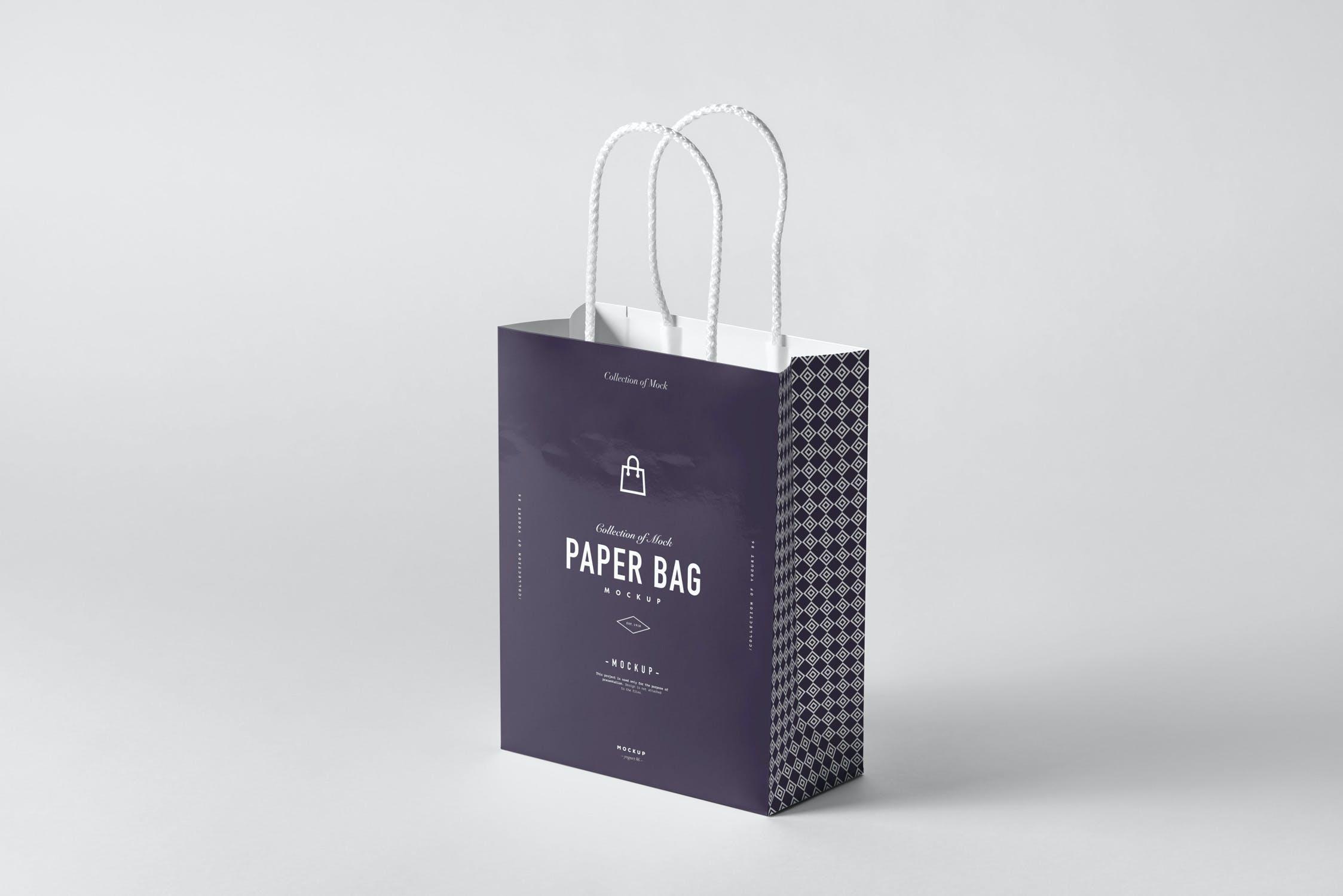 11款购物手提纸袋设计展示样机模板 Paper Bag Mockup 2插图