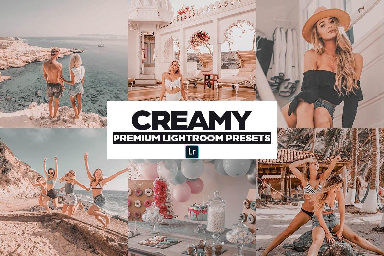 现代美学奶油色摄影照片后期调色LR预设模板 Creamy Mobile & PC Lightroom Preset插图