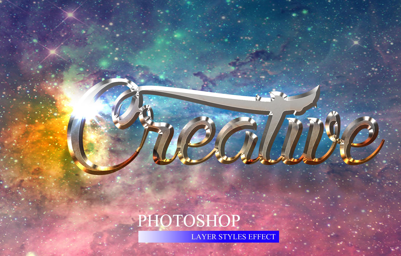 10款金属3D立体效果标题字体设计PS样式模板 10 3D Text Style插图(1)