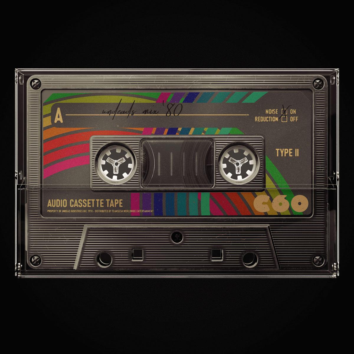 [淘宝购买] 潮流复古盒式磁带录音带设计智能贴图展示样机模板 Undead's Mix '80插图