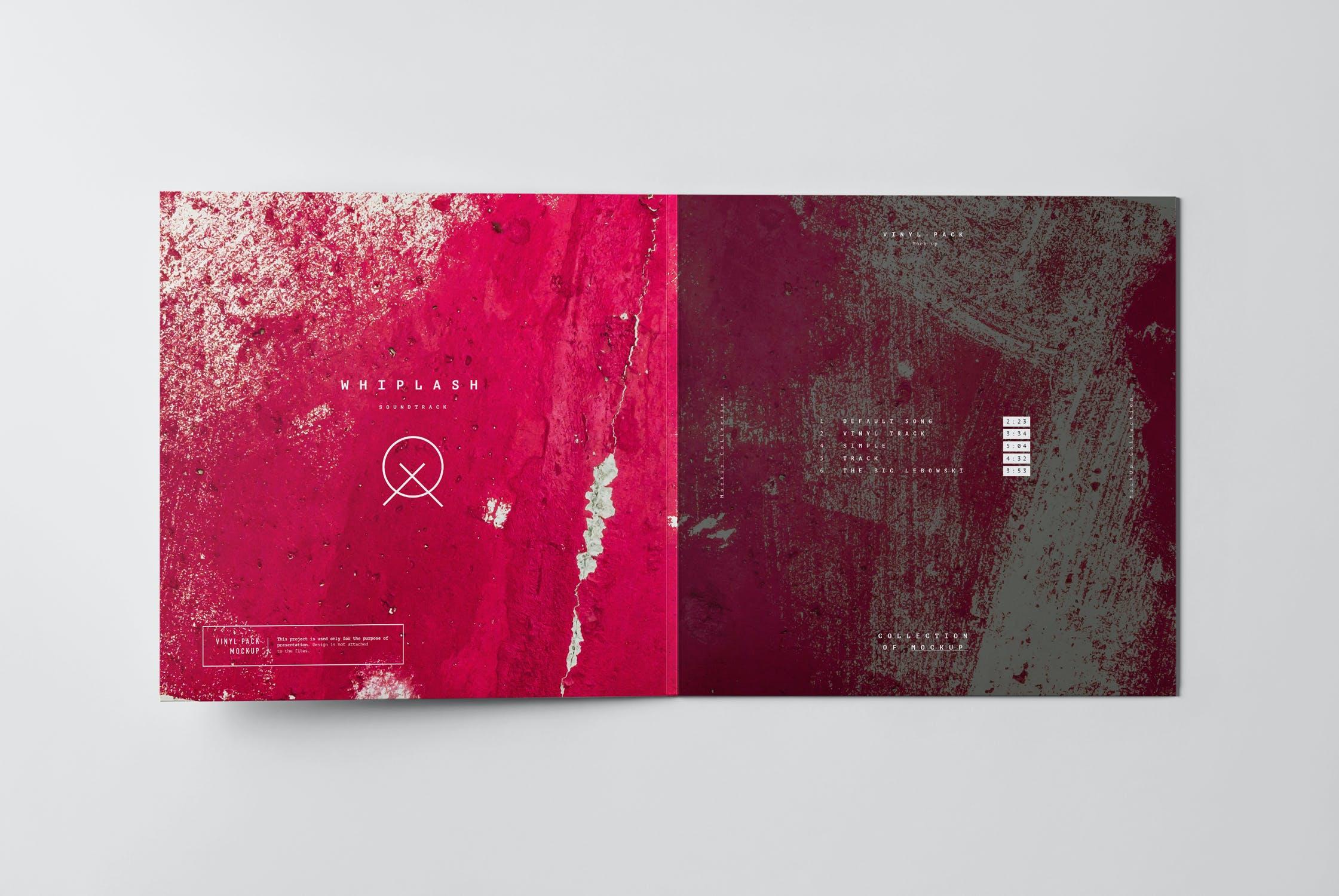 12款逼真黑胶片唱片纸袋设计展示样机 Vinyl Mockup 2插图(9)