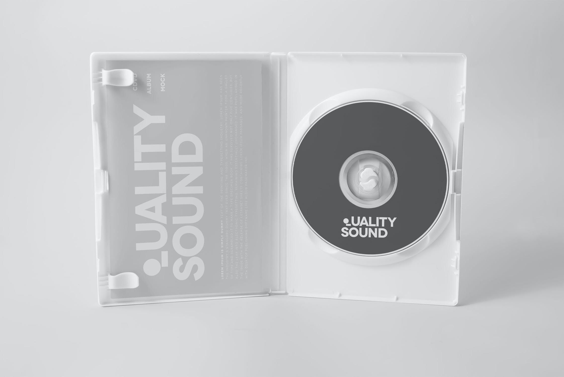 11款逼真CD/DVD包装盒设计展示样机模板 CD/DVD Album Mockup插图(9)