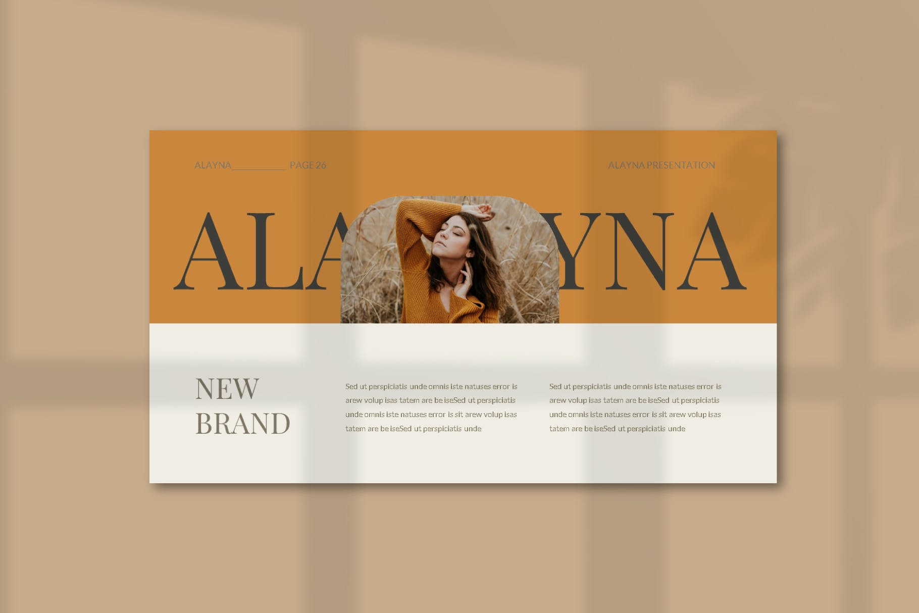 现代极简主义优雅轻奢品牌推广PPT演示文稿模板素材 Alayna – Powerpoint Template插图(9)