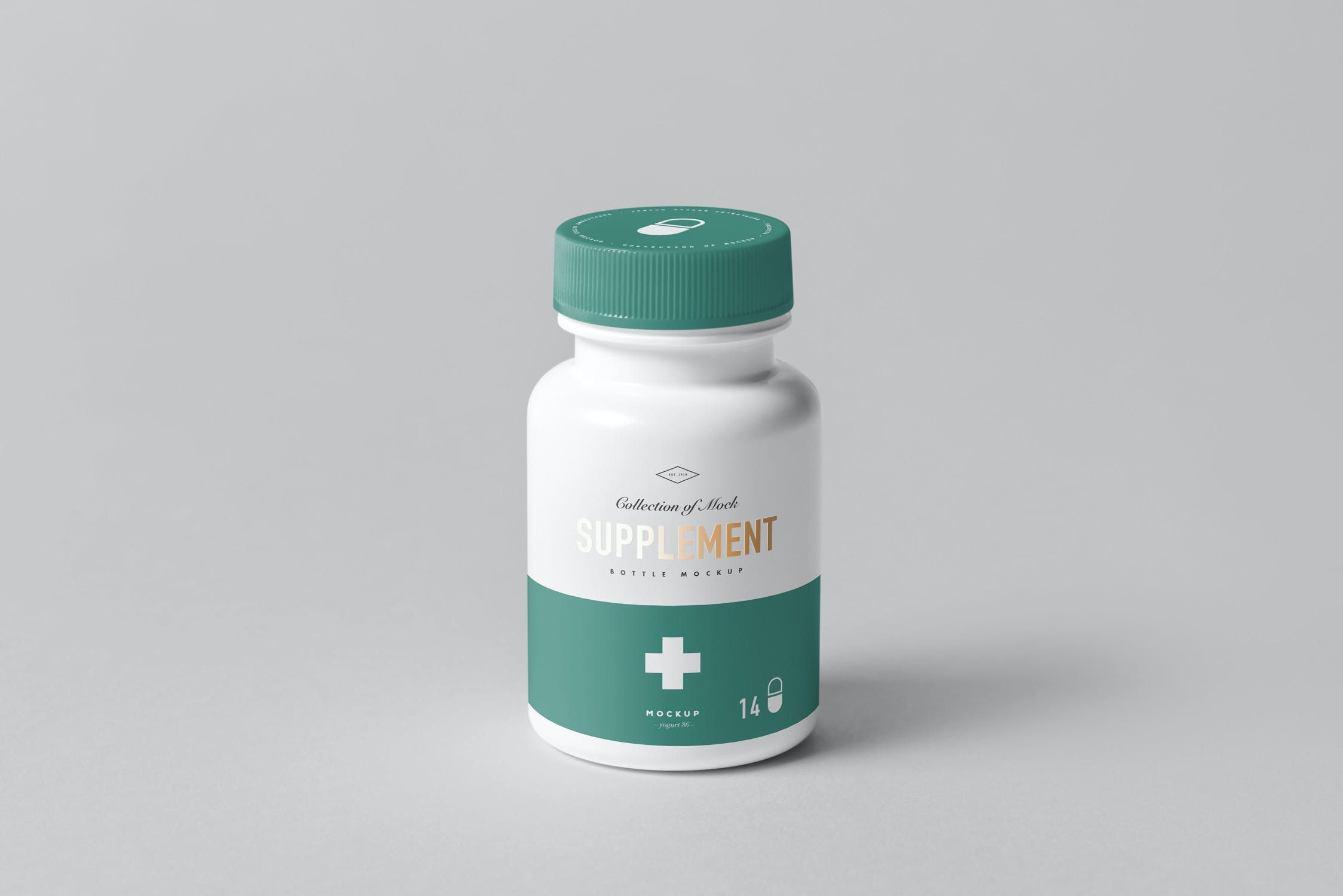 8款药物补充瓶塑料瓶包装盒设计展示样机模板 Supplement Bottle Mockup插图(9)