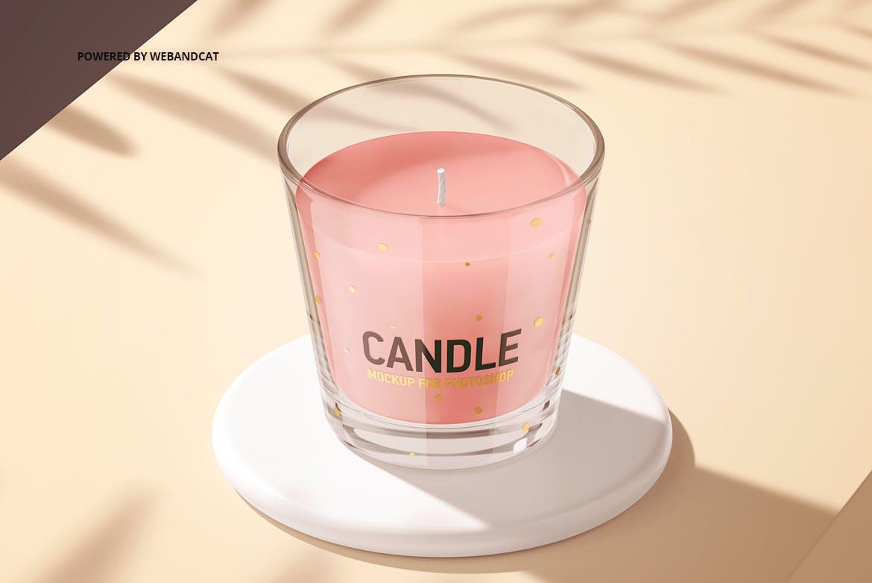 蜡烛香薰玻璃杯设计展示样机模板 Candle Mockup 2插图(9)