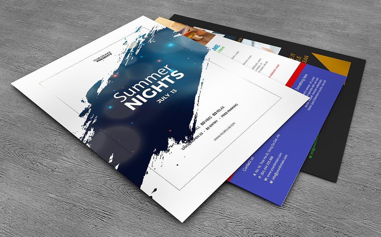 10款美式海报传单设计展示样机模板 U.S Letter Poster & Flyer Mockups插图(9)