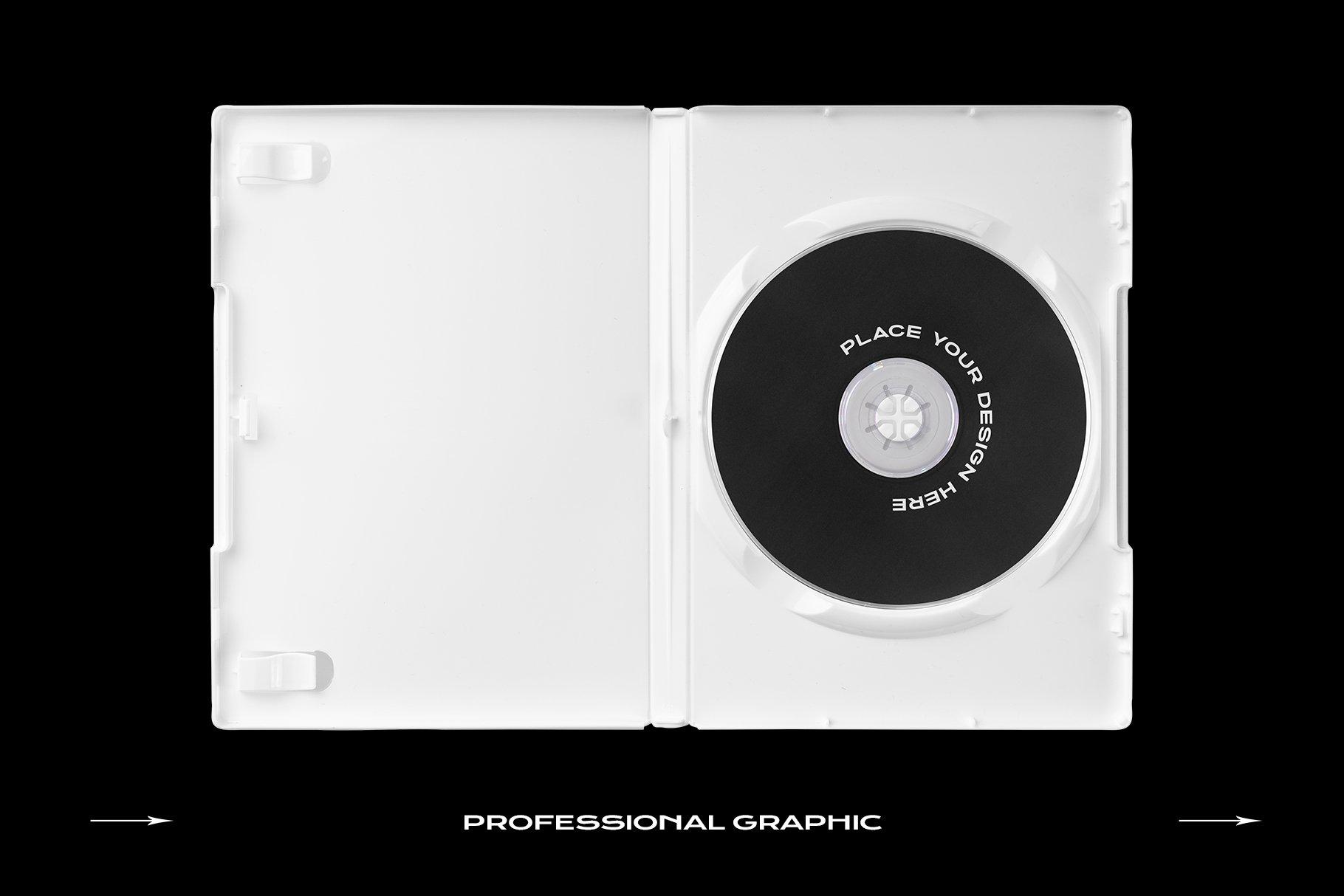 [淘宝购买] 60个DVD光盘包装盒塑料袋塑料膜贴纸样机PS设计素材 DVD Case Mockup Template Bundle Disc插图(11)